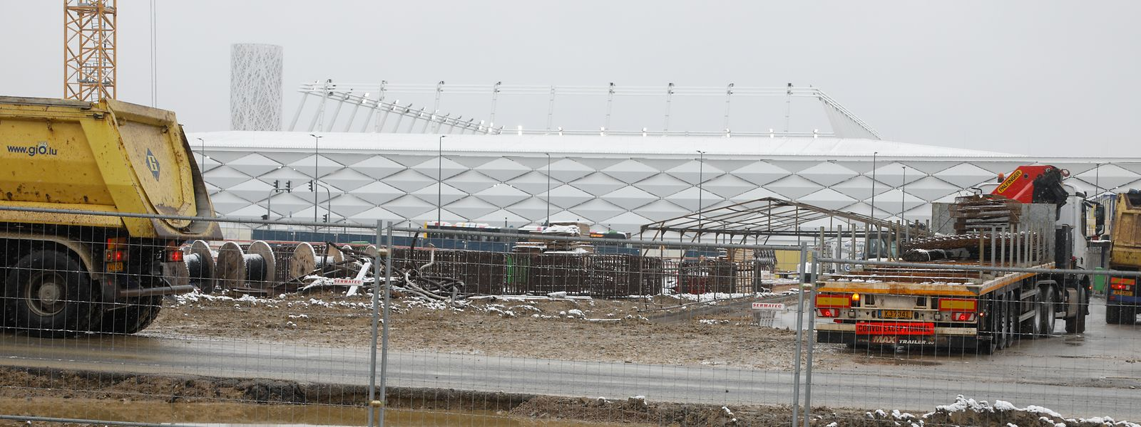 Le nouveau Park&Ride sera bien utile aux spectateurs du futur stade national qui joue sa validation par l'UEFA la semaine prochaine.