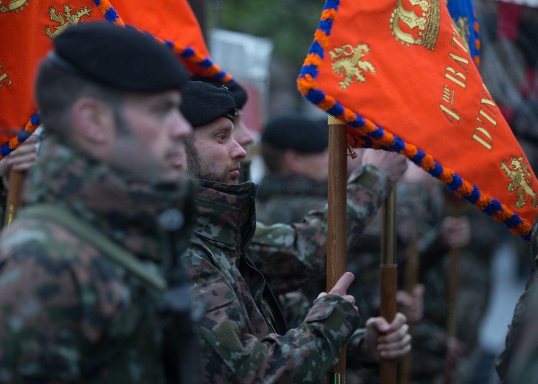 Die Generalprobe zur Militärparade am Nationalfeiertag fand am Montagabend zwischen 21 und 22 Uhr statt.