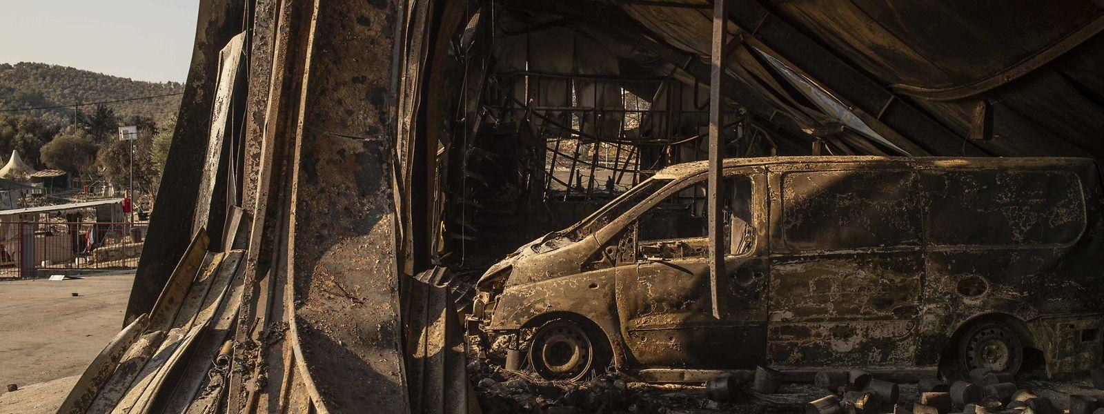 Große Teile des Flüchtlingscamps brannten vergangene Woche aus.