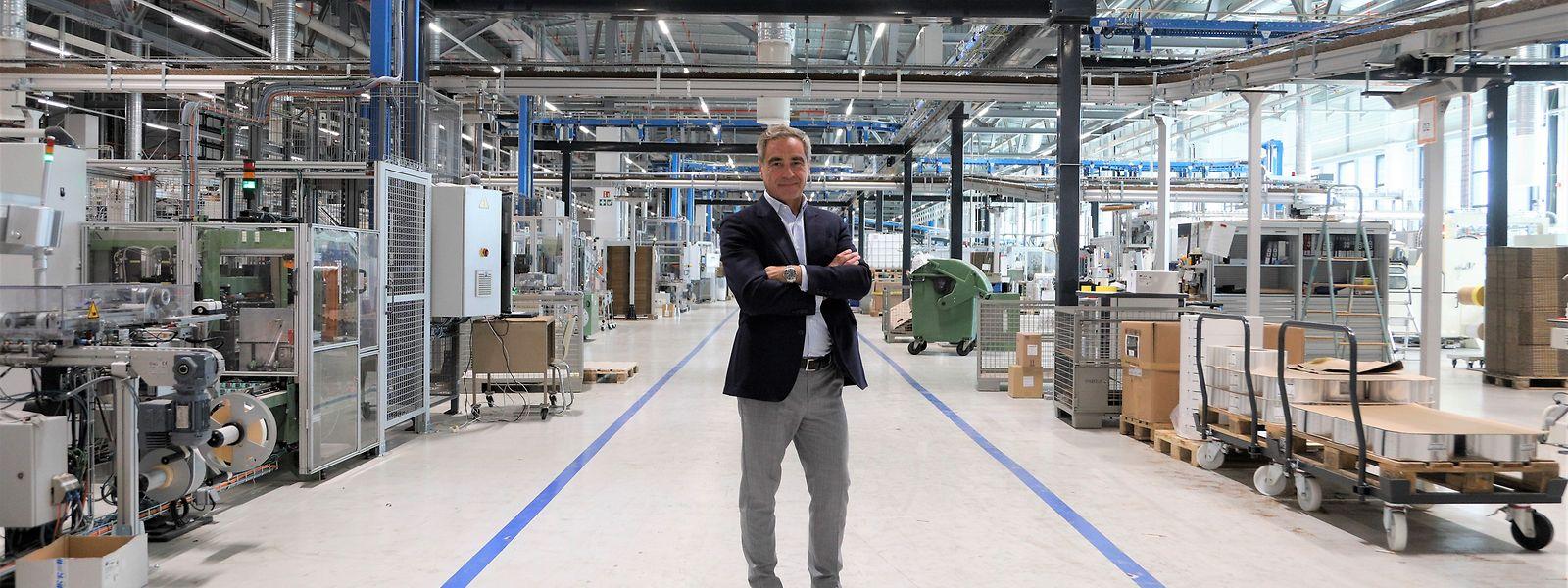 Geschäftsführer Jan Vandenneucker: Fast 100 Millionen Euro investierte Landewyck - am neuen Standort wird die Luxemburger Produktion gebündelt.