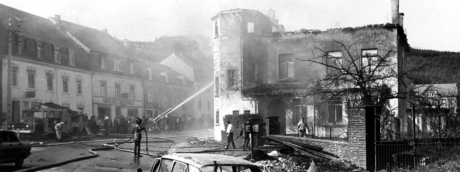 Im Ortskern von Martelingen wurden zahlreiche Häuser schwer beschädigt.