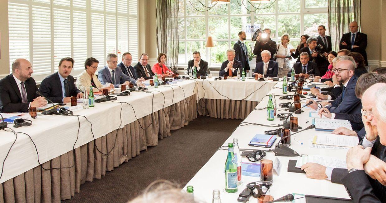 Réunion des gouvernements belge et luxembourgeois le 4 juillet 2016 à la Gäichel