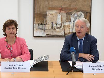 Annick Felten et Claude Wirion ont présenté le bilan de 2014. (Photo: Chris Karaba)