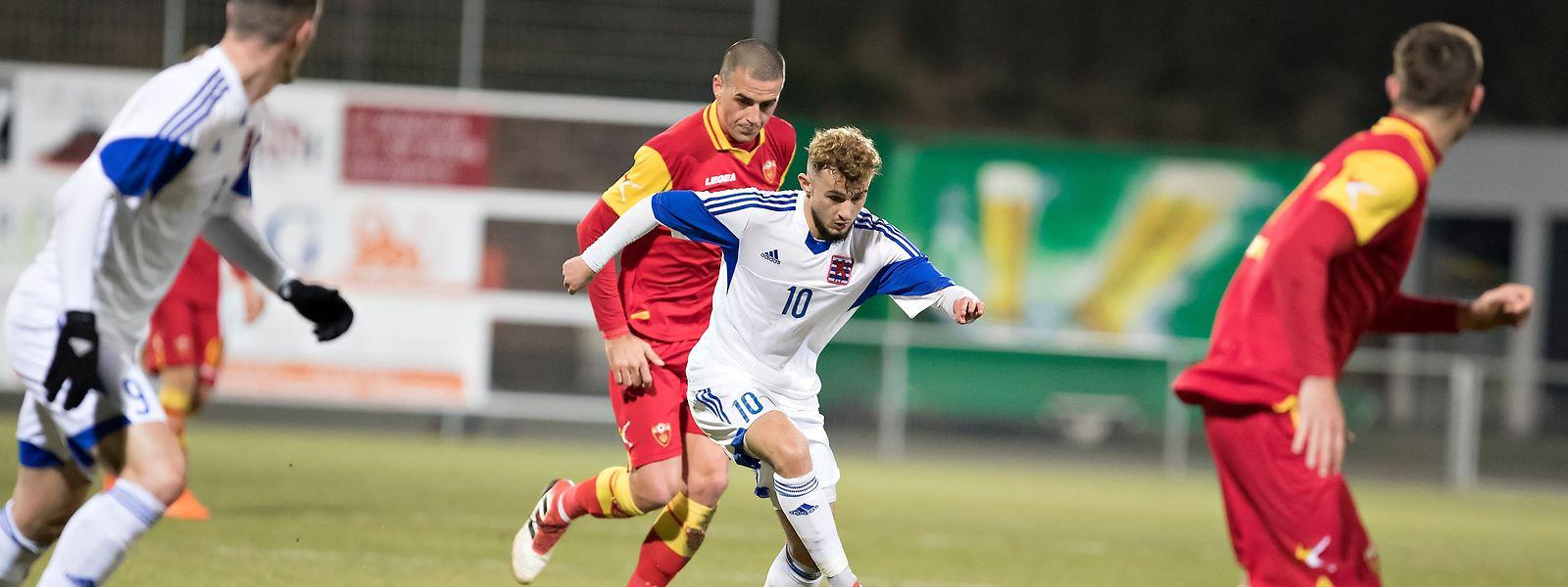 Belmin Muratovic (n°10, en blanc) a inscrit un but pour sa première sélection chez les Espoirs