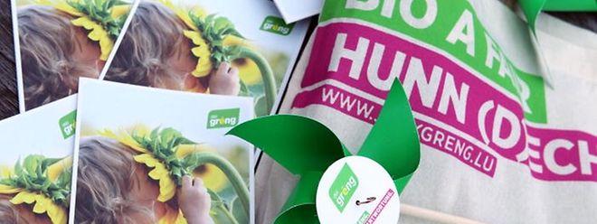 """""""Grüne Ideen machen Luxemburg stark"""", werben Déi Gréng um das Vertrauen der Wähler."""