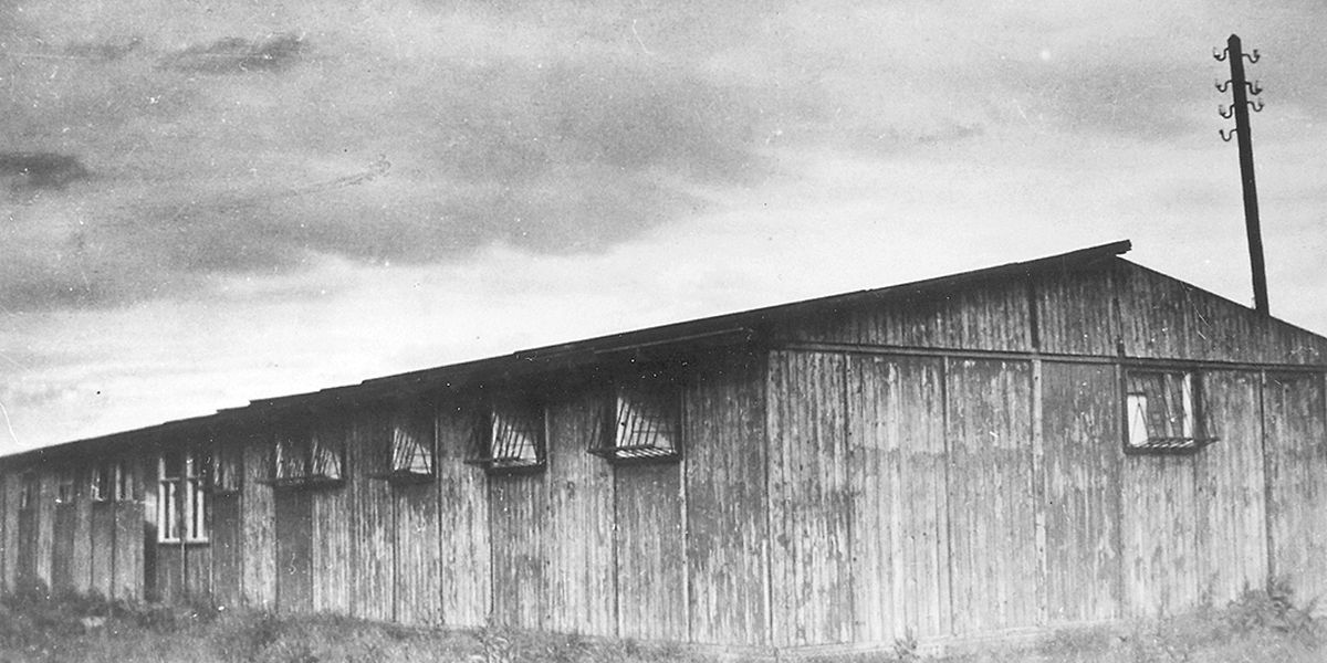 Eine Baracke des SS-Sonderlagers Hinzert im Hunsrück.