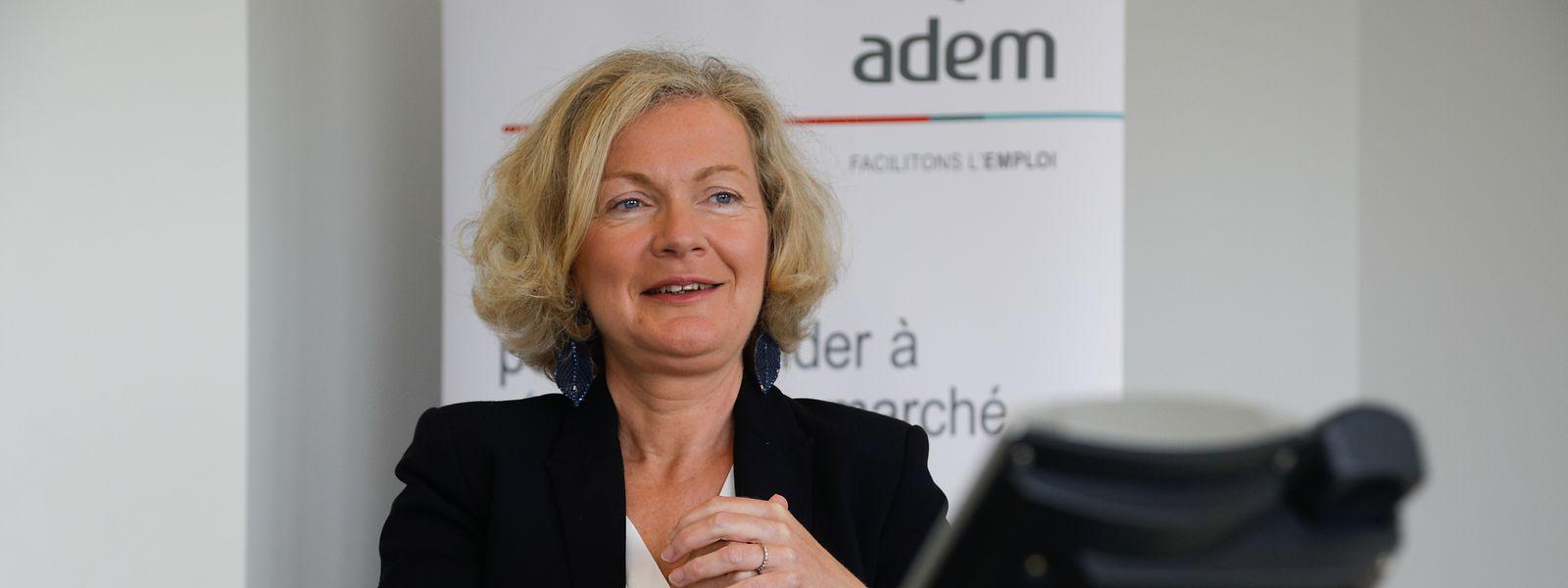 Pour Isabelle Schlesser, directrice de l'ADEM, rien ne dit que la plus grosse vague de demandeurs d'emploi est passée...
