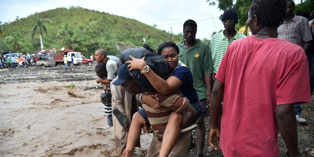 Am härtesten traf der Wirbelsturm der Kategorie 4 die Departments Sud und Grand'Anse im Südwesten des Karibikstaats.