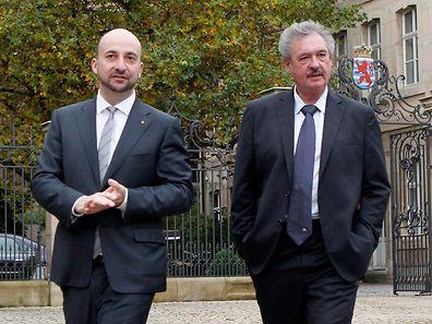 Le Vice-Premier ministre Etienne Schneider (à g.) et le ministre des Affaires étrangères Jean Asselborn.