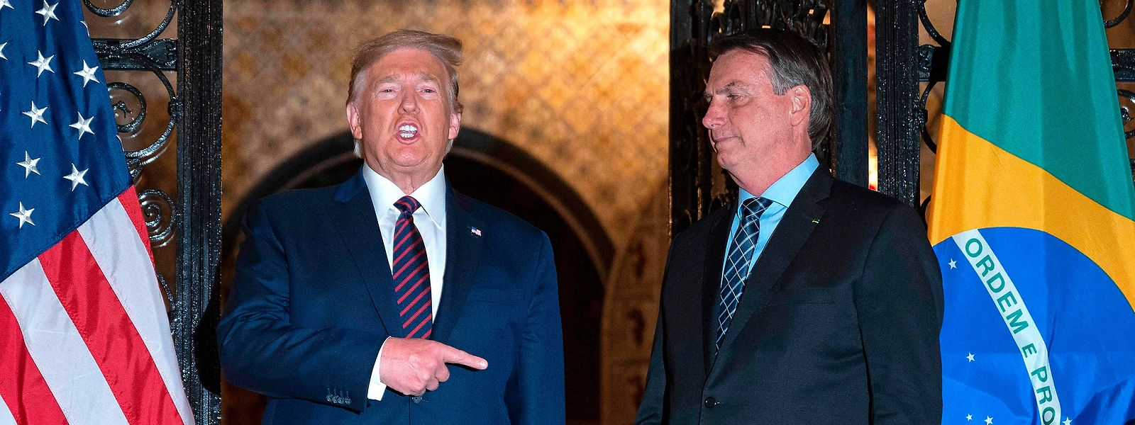 Eine echte Männerfreundschaft: US-Präsident Donald Trump (l.) und Brasiliens Präsident Jair Bolsonaro im März 2020.