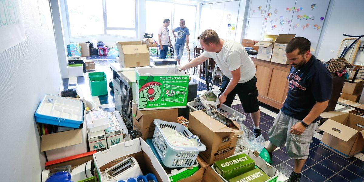 Im Sportzentrum in Bettemburg wurden vergangene Woche Sachspenden gesammelt.