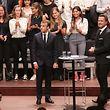 Consultations Citoyennes sur L'Europe avec Emmanuel Macron et Xavier Bettel, a la Philharmonie, le 06 Septembre 2018. Photo: Chris Karaba