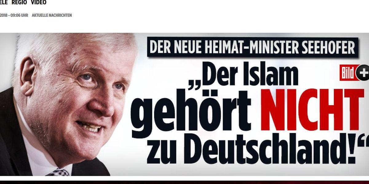 """Seehofer: """"Islam gehört nicht zu Deutschland"""""""