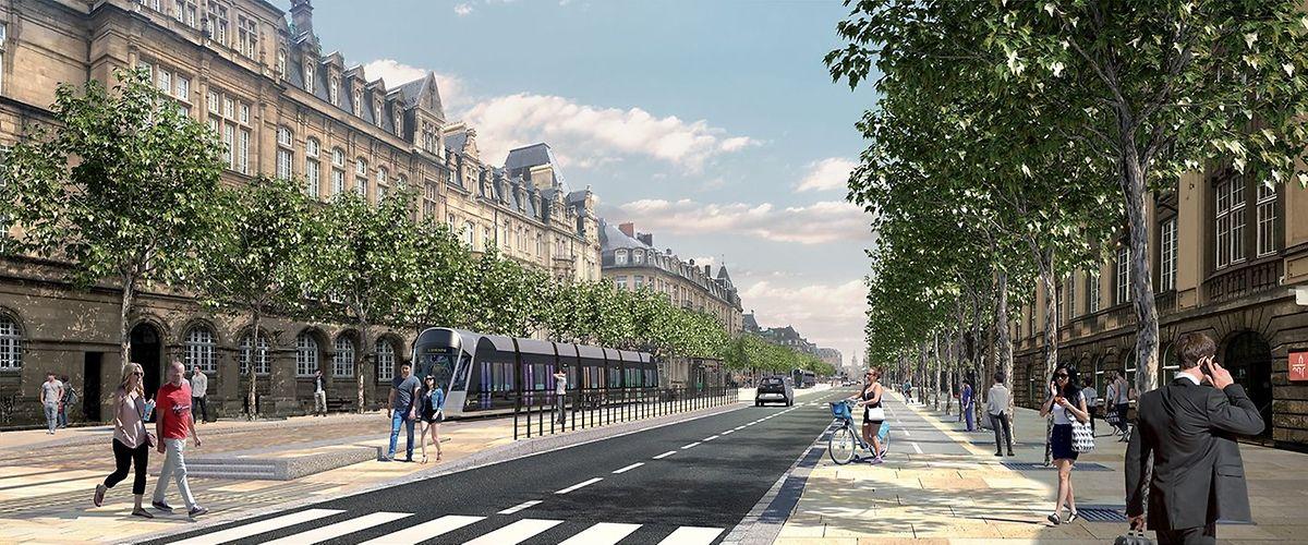 So soll die Avenue de la Liberté sich nach der Fertigstellung der Arbeiten präsentieren.