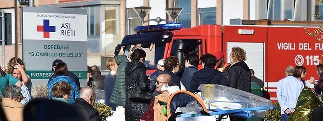 A Rieti, un hôpital a dû être évacué.