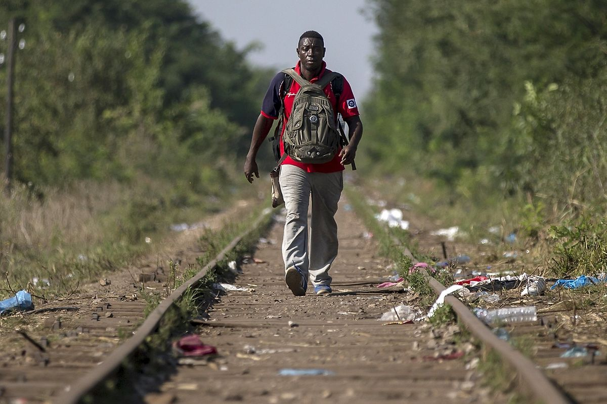 Das Flüchtlingsproblem (hier in Ungarn) hat schon längst dramatische Ausmaße angenommen.