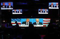 Eindrücke vom ersten TV-Duell zwischen Donald Trump und Joe Biden