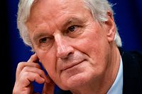 European Union's chief Brexit negotiator Michel Barnier attends a meeting at the European Parliament in Brussels, on October 16, 2019. (Photo by Kenzo TRIBOUILLARD / AFP)