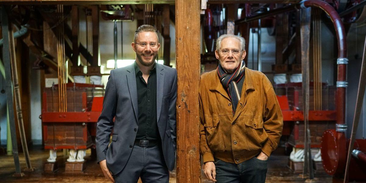 Yves und Jean-Paul Dieschbourg führen die Familientradition weiter. Vor 120 Jahren haben die Vorfahren mit der Mehlproduktion angefangen.