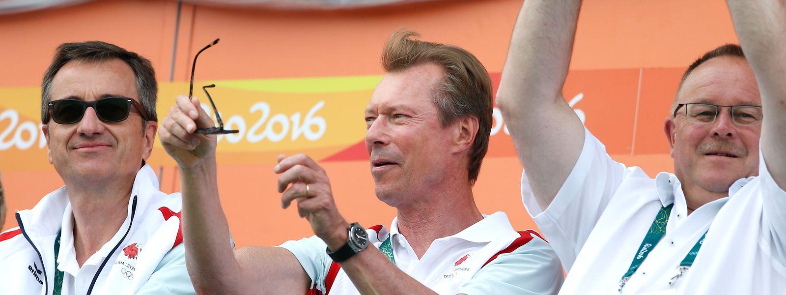 Pour rien au monde, le grand-duc Henri ne manquerait de soutenir les athlètes luxembourgeois dans une grande compétition sportive. Ici, lors des Jeux de Rio en 2016.
