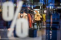 Solden, Soldes, Einkaufen, Konsum, Winterschlussverkauf, %, Foto: Lex Kleren/Luxemburger Wort