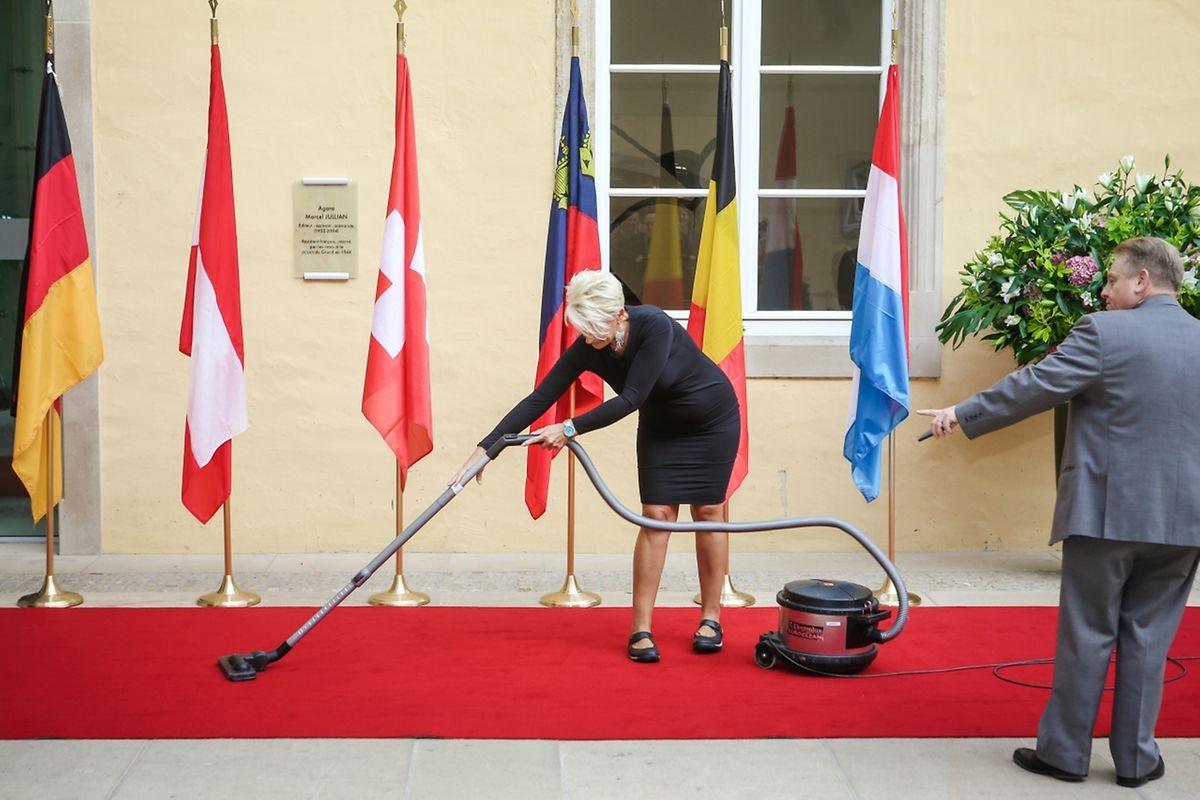 Kurz vor der Ankunft der Gäste liefen die letzten Vorbereitungen noch auf Hochtouren.