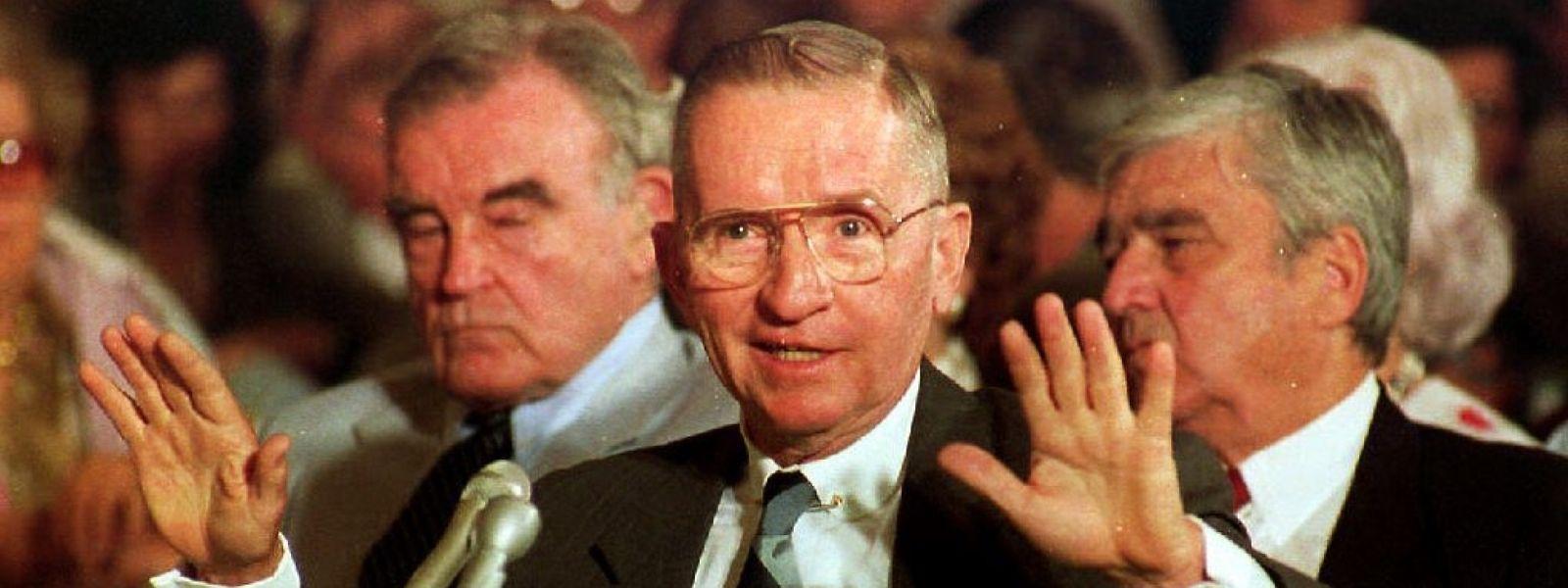 Ross Perot vor dem US Senat im August 1992.