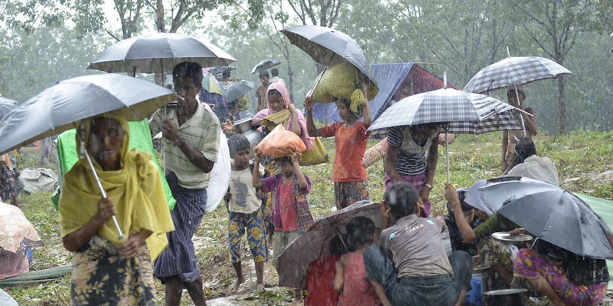 Rohingyas auf der Flucht.