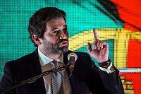 Der Rechtspopulist André Ventura der Partei Chega! (Es reicht!) kam auf 11,9 Prozent der Stimmen.