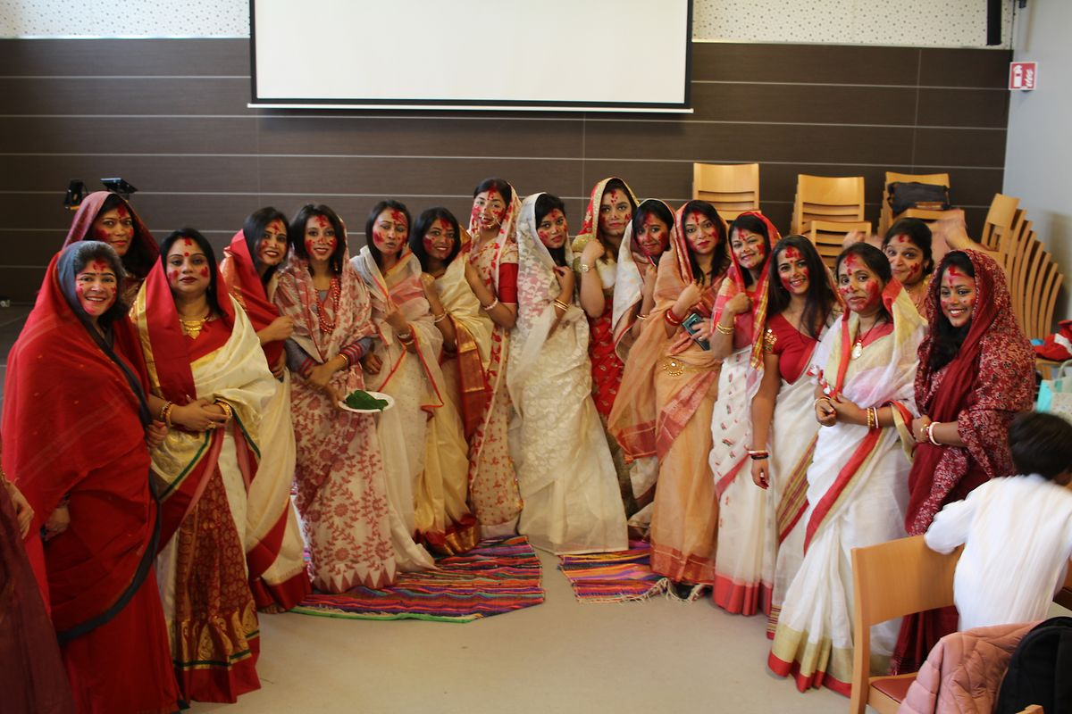 Indian residents in Luxembourg preparing for Durga Puja