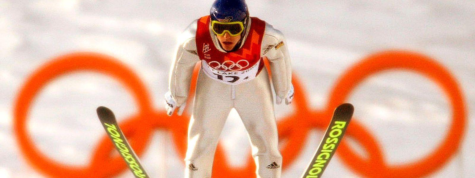Sven Hannawald gewann bei den Olympischen Winterspielen 2002 in Salt Lake City die Goldmedaille mit der Mannschaft.