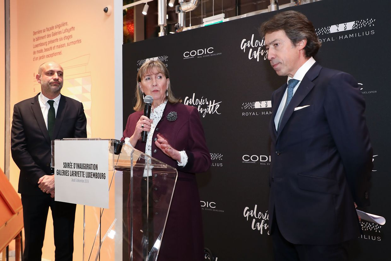 Bilder von der Eröffnung der Galeries Lafayette in Luxemburg.