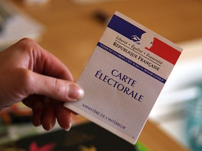 A French voting card