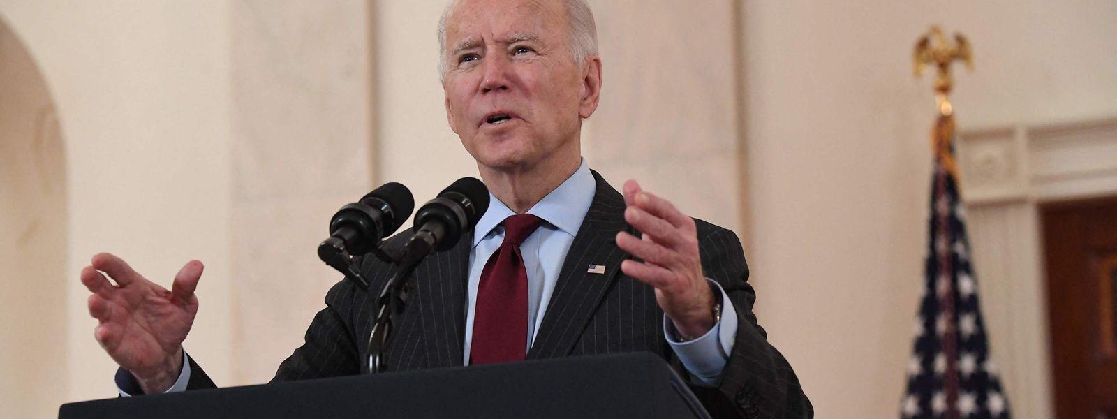 Biden gab am Montagabend (Ortszeit) unmittelbar vor der Gedenkveranstaltung eine Ansprache.
