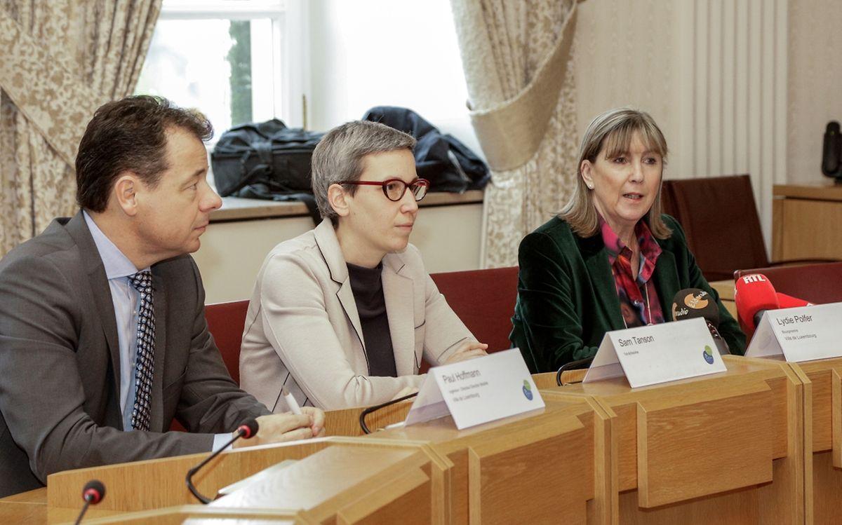 Paul Hoffmann, Sam Tanson et Lydie Polfer ont présenté leurs conclusions face à cette étude sur la mobilité à Luxembourg.