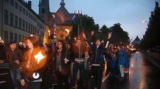 The torchlight parade taking place from 9:20pm on Thursday