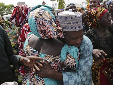 AA father reunited with one of the released Chibok girls in Abuja