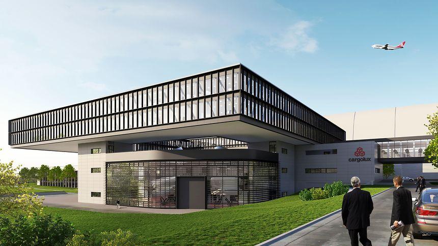 Une image de synthèse de ce à quoi ressemblera le futur siège de Cargolux