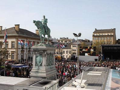 "Place Guillaume II or ""Knuedler"" during the Royal Wedding"