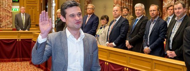 Assermentation d'un nouveau membre de la Chambre des députées: David Wagner