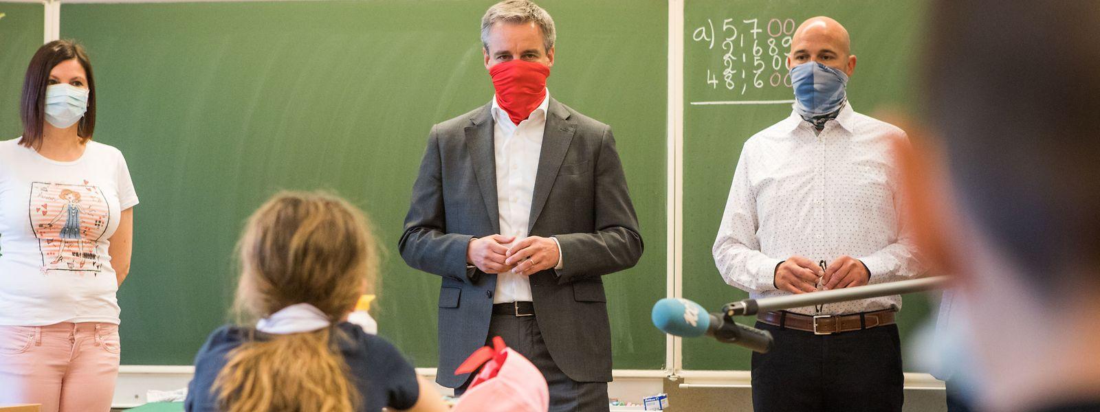 Claude Meisch besuchte am Montag die Schule Ribeschpont in Düdelingen.