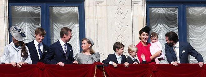 La dernière apparition de la famille grand-ducale au balcon du palais, en mai. Elle saluera la foule ce lundi vers 16h.