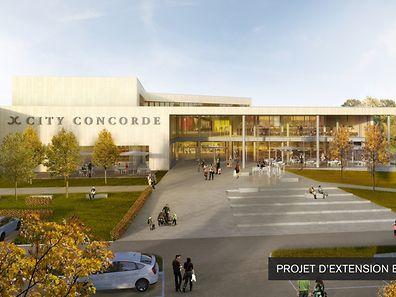 Vue de la nouvelle extension du shopping center.