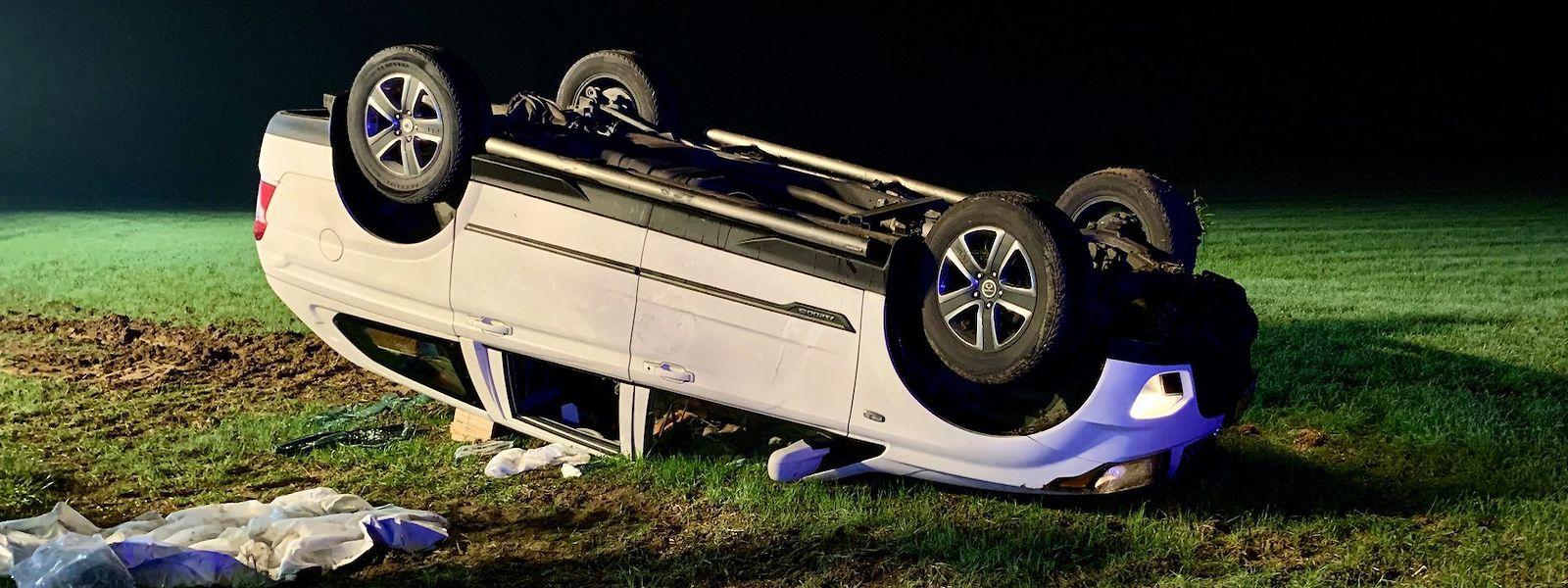 Gegen 22.30 Uhr überschlug sich ein Auto in Schouweiler, eine Person musste medizinisch betreut werden.