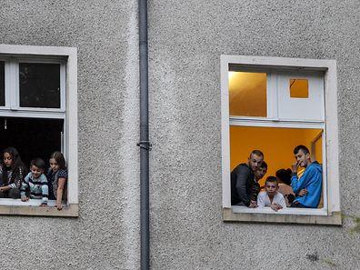 Des réfugiés accueillis au Centre Heliar à Weilerbach.