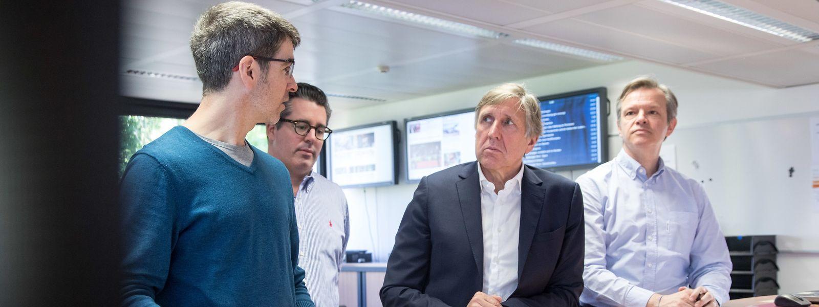 François Bausch im Gespräch mit der Chefredaktion des Luxemburger Wort.
