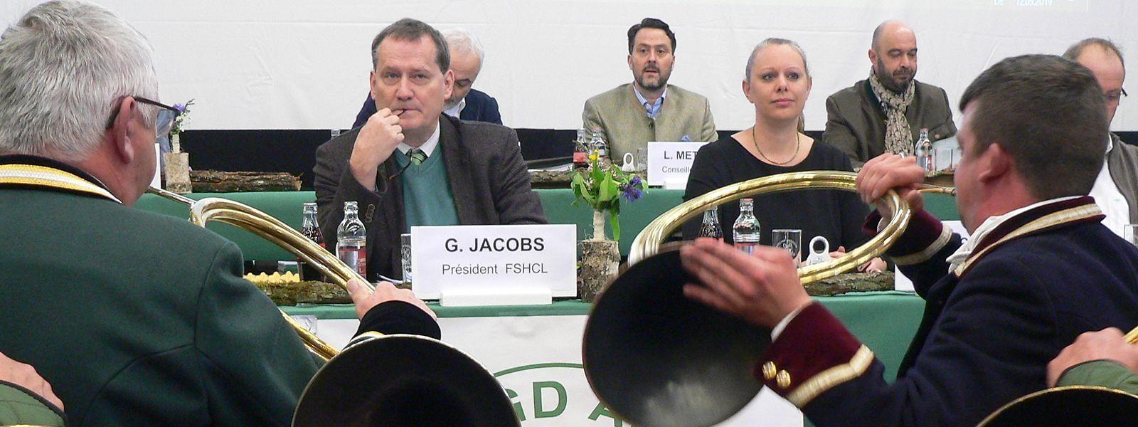 Coup de froid sur fond de cor de chasse, entre Georges Jacobs (gauche) et Carole Dieschbourg, sa ministre de tutelle.