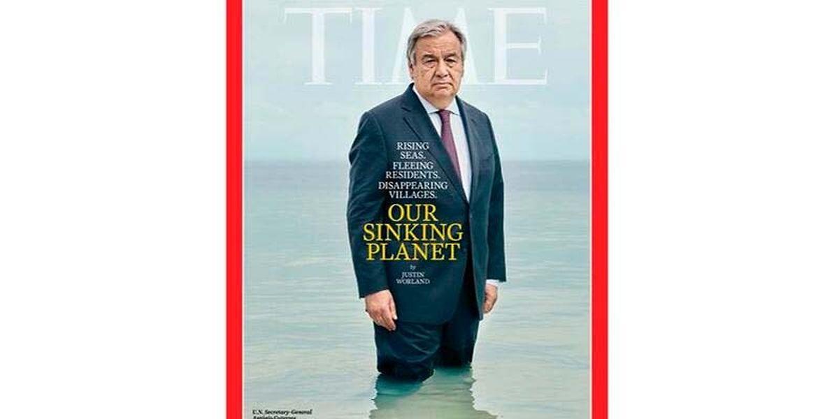 Guterres foi capa da última revista Time.