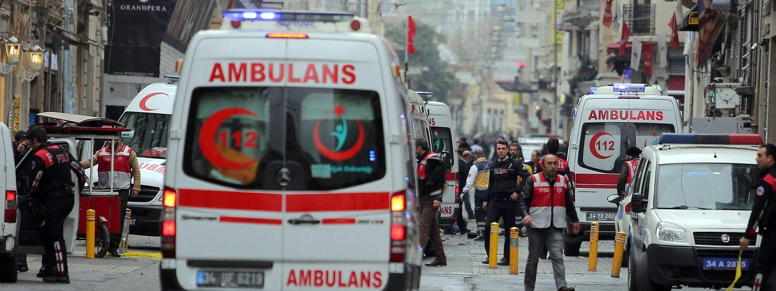 Die Explosion soll sich inmitten von einigen Passanten ereignet haben.