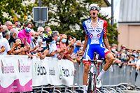 Kevin Geniets (Groupama) sichert sich seinen ersten Landesmeistertitel bei der Elite - Radsport - Landesmeisterschaften im Straßenrennen 2020 - Foto: Serge Waldbillig